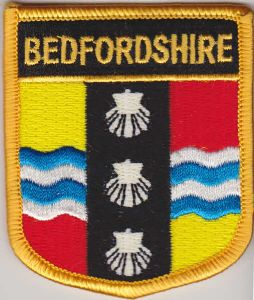 Bedfordshire Embroidered Flag Patch, style 07